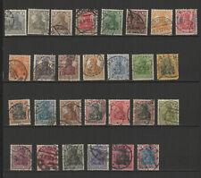 Allemagne 1905/20 Deutsches Reich 28 timbres oblitérés / T2501