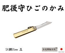 Kanekoma Higonokami Japanese SK Steel 55mm Folding Knife Brass Handle
