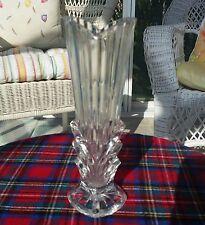 "Vintage Art Deco Style Crystal Vase - 21cm = (8-1/4"") –  * Bud Vase *"