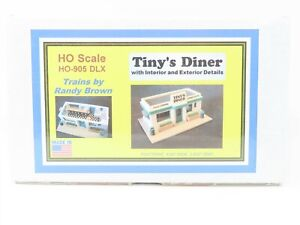 HO 1/87 Scale Trains by Randy Brown Kit HO-905 DLX Tiny's Diner - Sealed
