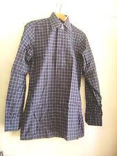 """Chemise vintage """"Pierre Cardin"""" bleu marine à carreaux taille 37 neuve"""
