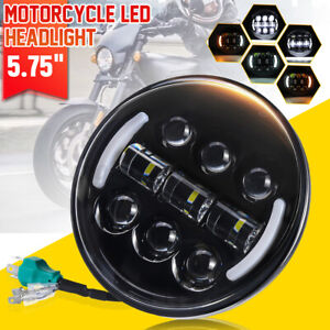 """5.75"""" 5-3/4'' Motorcycle LED Headlight Projector DRL Turn Signal Cafe Racer AU"""