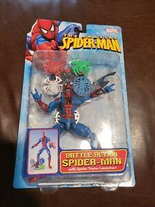 Toy Biz Marvel Amazing Spider-Man Battle Action Spiderman Action Figure 2005 New
