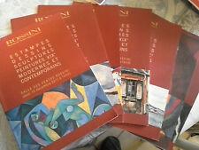 Bibliophilie, lot 7 catalogues de vente Rossini estampes, dessins 2009/2011