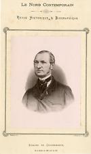 Edmond de Coussemaker Vintage silver print.Edmond de Coussemaker, né le 19 avr