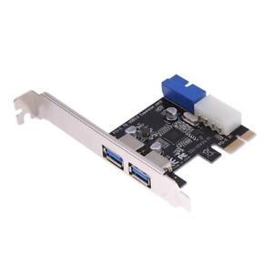 USB3.0 Expansion PCI-E carte adaptateur externe 2 Port USB3.0 Hub interne