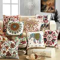 """Ethnic Embroidery Sofa Cushion Cover Throw Pillow Case Home Car Decoration 18"""""""
