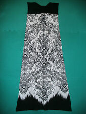 Ladies Size 10 Black/White Floral Strapless Full Length Dress by Atmosphere