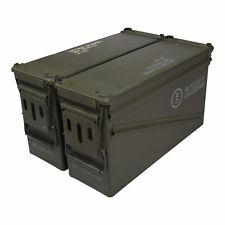 2 Pack USGI PA120 40mm Ammo Cans Ammunition Box MK19 Surplus Storage Container