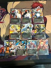 Naruto CCG TCG Reinforcement And Squad 10 Card Naruto Lot Non-Foil