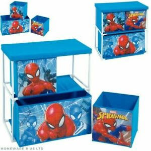 BOYS CHILDRENS MARVEL SPIDERMAN BEDROOM TOY BOXES LAMPS WASTE BIN CUSHIONS DUVET