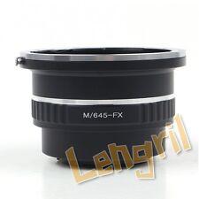 Lens Adapter For Mamiya 645 Lens to Fujifilm Fuji X Mount Camera  X-Pro1 X-Pro2