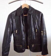 Versus -Versace - Lederjacke -Lamm Leder -tolles Design - S -shwarz
