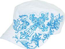 Zan Headgear Highway Honeys Hat Goth Cross Adjustable Blue White