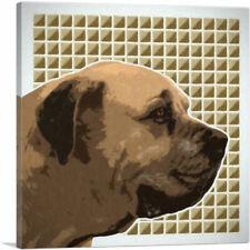 Artcanvas English Mastiff Dog Breed Beige Pattern Canvas Art Print