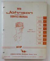 Johnson Outboard Service Shop Repair  Manual 60hp  1970 JM-7009