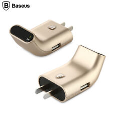 Dual Usb Smart Display Stand Portable Fast Charging Travel Home Wall Charger