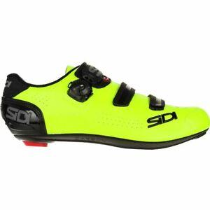 Sidi Alba 2 Road Cycling Bicycle Shoes Black/FloYellow Size 43.5 EU
