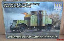 "Masterbox 72007 1:72nd scale ""British Armoured Car, Austin, MK III, WW I Era"