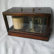 VINTAGE RECORDING BAROMETER IN CASE BY SHORT & MASON #1123