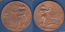Médaille - Assemblée Nationale Elit Loubet 1899 Par H. Dubois 135 Grammes Bronze