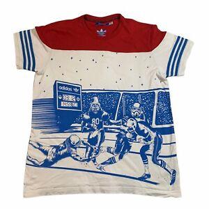 Adidas Originals Star Wars Darth Vader T-shirt Rare Football Colour Block Large