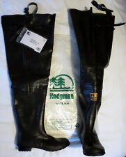 HODGMAN Caster WATERPROOF Rubber CLEATED Sole BOOT Foot HIP WADERS Mens sz 13 46