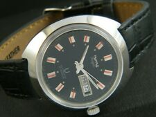 VINTAGE HMT RAJAT AUTOMATIC INDIAN MEN'S DAY/DATE WATCH 349f-a174636-6