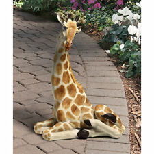 Realistic Safari  Giraffe Statue African Sculpture Garden Decor NEW