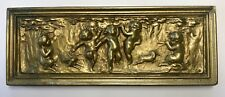 Antique 1930's Gold Cherubs Dancing Music Wall Plaster Plaque Charles Pizzano