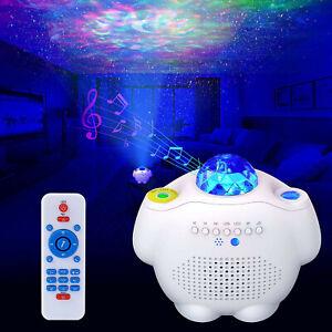 USB Galaxy Star Light Projector Night Lamp Starry Sky Bluetooth Music Speaker UK