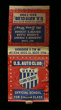 Vintage US Auto Club USAC Learn to Drive Matchbook Matches