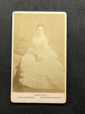 Rare Victorian Carte De Visite CDV: Hills & Saunders: Princess Beatrice 1874