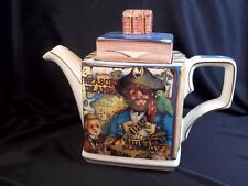 Classic Stories Treasure Island china teapot Sadler UK small chip