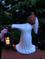 Dachschmuck, kleiner Schlafwandler mit Solarlampe mit Kerze, Firstfigur H 41 cm