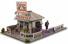 1:64 HO Scale Photo Real Ticket & Gate Entrance Model Scenery Miniature Sets