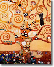 KLIMT THE TREE OF LIFE  10x8 CANVAS GICLEE SAMPLE ART PRINT