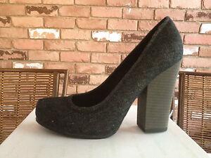 Calvin Klein Jeans Nichelle Women's Platforms Pumps Heels Sandals Black Shoes