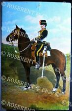 1900s a Trooper of the  7th Hussars - marching order  - Printed Postcard