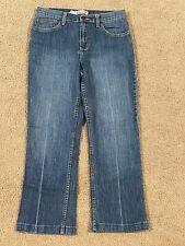 Women's Zena Stretch Blue Jeans Denim Capris Cropped Pants Mid Rise Size 6