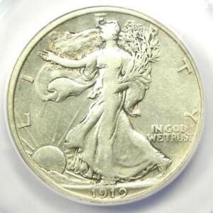 1919 Walking Liberty Half Dollar 50C - Certified ANACS VF30 Details - Rare Date!