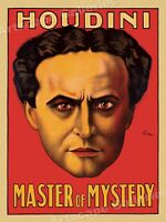 Harry Houdini Magic Poster - Master of Mystery and Escape 24x32