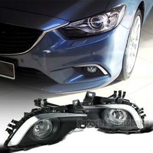 For 2014-2016 14-16 Mazda 6 Atenza Bumper Lamps Fog Lights Kit+Switch