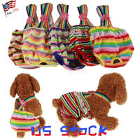 Dog Washable Pet Clothes Puppy Diapers Female Suspender Strap Pants Underwear US