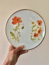 Assiette Ancienne Porcelaine motifs Coquelicots