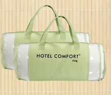 Set of 2 KING Authentic Hypoallergenic Bamboo Memory Foam Pillows & Travel Bag
