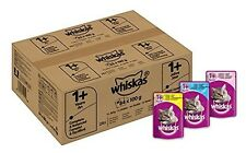 84x Whiskas Wet Cat Food Adult Mixed Selection in Jelly - FREE SAME DAY SHIPPING