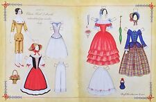 1840's China Head Doll Mag. Paper Doll, Roy Brindamour Artist, 2005