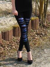 Damen Leggings mit Netzeinsatz Gothic  Leggings Pink Punk Spitze Leggins NEU