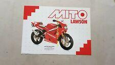 Cagiva MITO 125 Lawson Replica 1993 depliant originale inglese tedesco